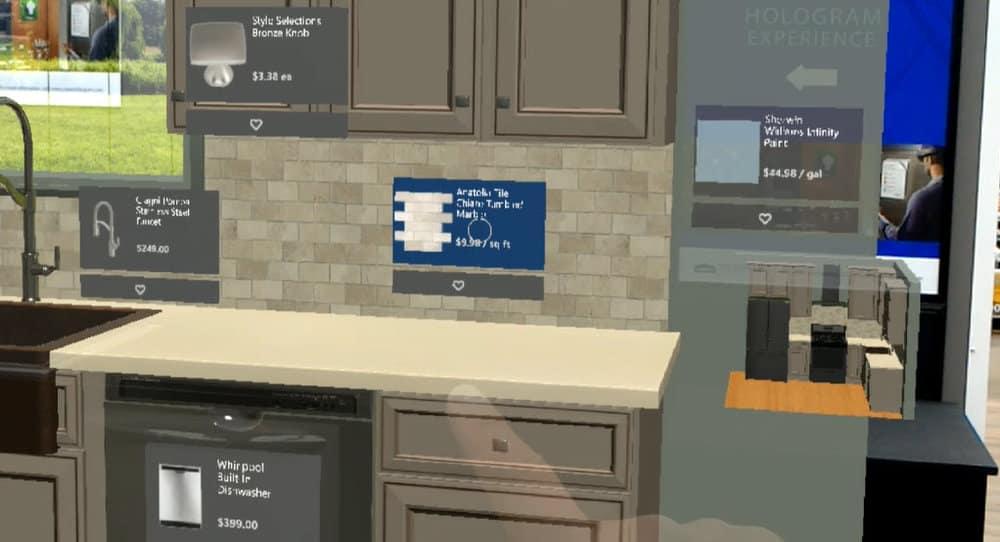 Cuando un cliente de Lowe's mira a través de HoloLens, es capaz de ver no solo opciones de mosaicos, gabinetes, electrodomésticos y más, también pueden obtener los precios para que sus decisiones sean más fáciles. (Foto cortesía de Lowe's) Read more at http://news.microsoft.com/es-xl/lowes-innova-con-ciencia-ficcion-para-expandir-y-mejorar-para-los-clientes-su-experiencia-de-diseno-de-cocinas-de-realidad-mezclada-con-microsoft-hololens/#qXLwePH6RCwkSOB5.99
